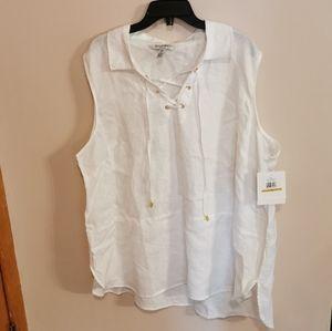 Linen tunic bnwt, Ellene Tracy size 3X